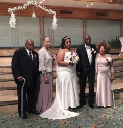 Rosetta Mondy Arcenaux at her son's wedding  Jeffery Oliver & MeShaun Arcenaux