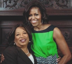 Rosetta Mondy Arcenaux lunching with the 1st Lady Michelle Obama at Loyola University in New Orleans!