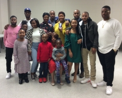 Rosetta Mondy Arcenaux and some of her grandchildren at her 70th birthday celebration!